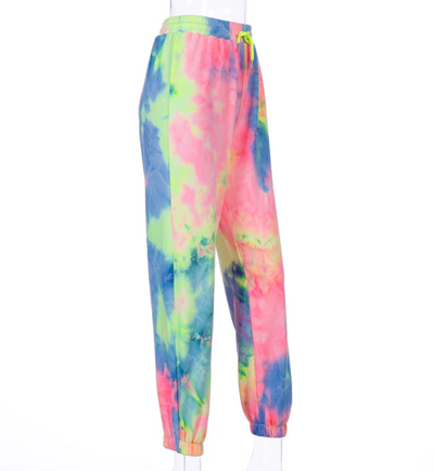 Rainbow Tie Dye Sweatpants