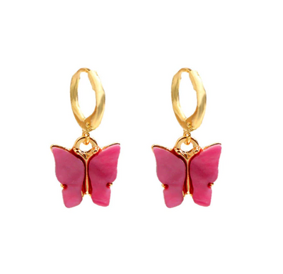 Vintage Butterfly Drop Earrings
