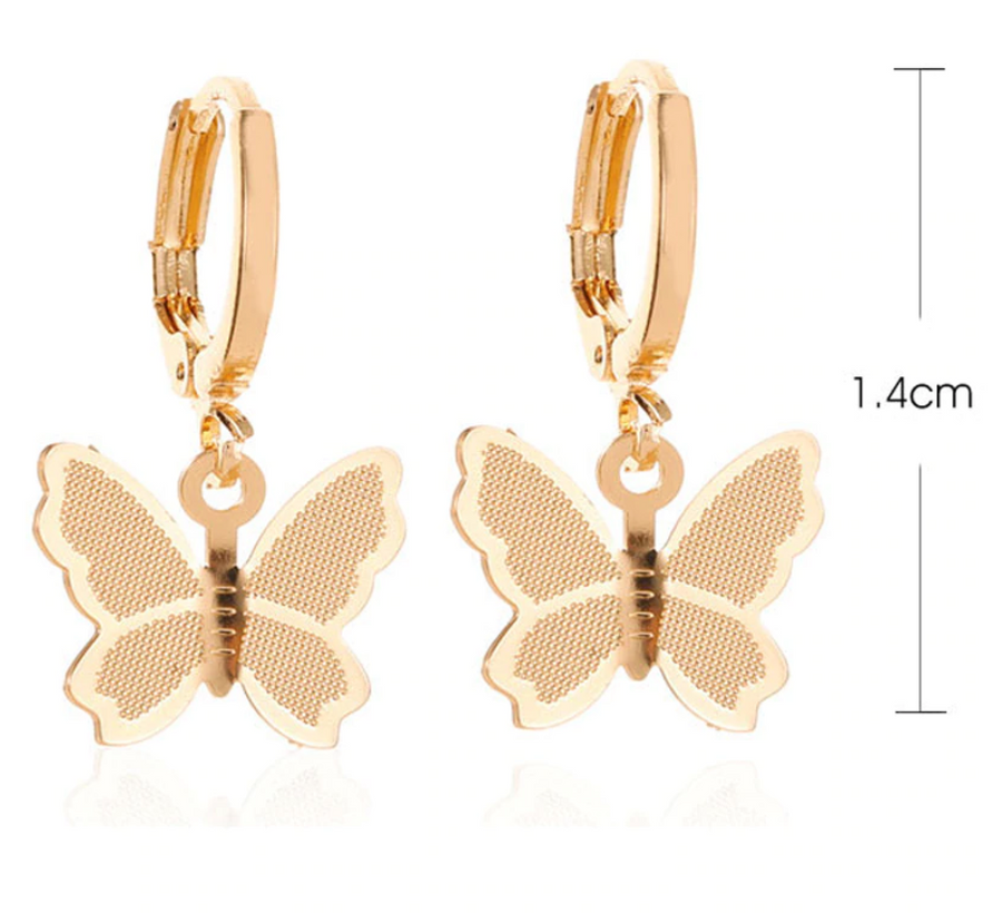 Bohemian Butterfly Drop Earrings