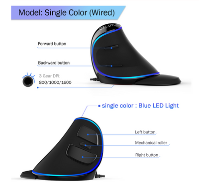 6 Buttons Wireless Ergonomic Mouse