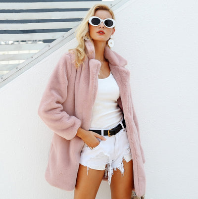 Faux Fur Fluffy Coat Jacket