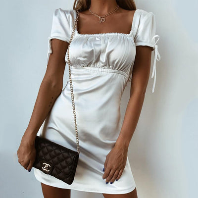 Short Sleeve Sexy Ruched Dress