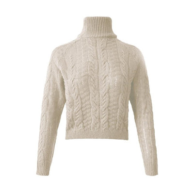 Knitted Turtleneck Pullover Sweater