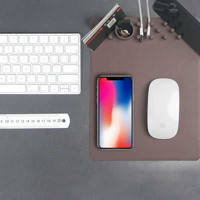Desktop Organizer Wireless Charging Mouse Pad