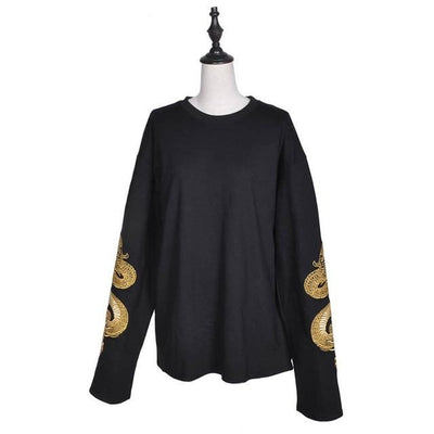 Golden Dragon Long Sleeve Sweatshirt
