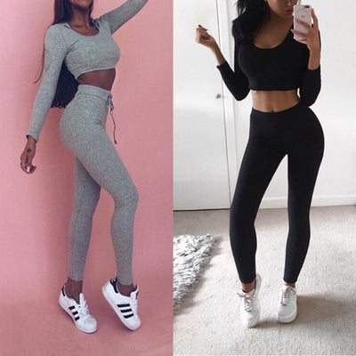 Women Sweatshirt Pants Tracksuit Set