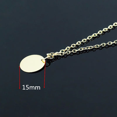 Round Circle Pendant Necklace
