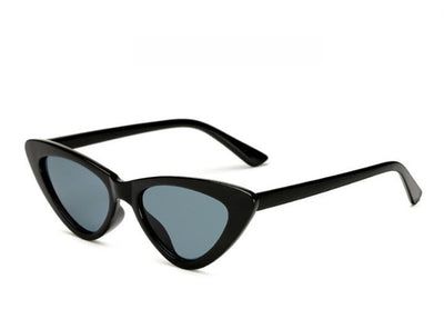 Small Cat Eye Vintage Triangle Sunglasses