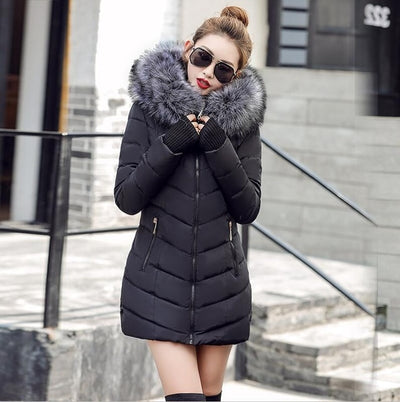 Long Padded Puffer Down Jacket