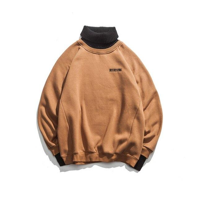 Interesting Turtleneck Sweatshirt