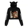 Shawn Mendes Crop Top Cat Ear Hoodie