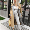 Turn Down Collar Trench Coat - Winter Coat - Outfits - Long Coat