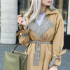 Turn Down Collar Trench Coat