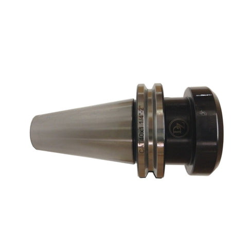 "A CAT40 1-1/4"" standard precision stub-length end mill holder."