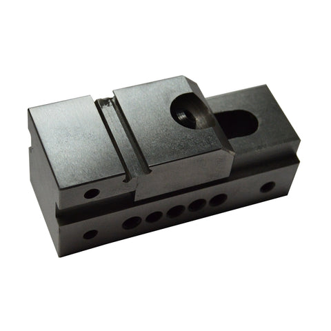 Back view of a 1-inch precision vise.
