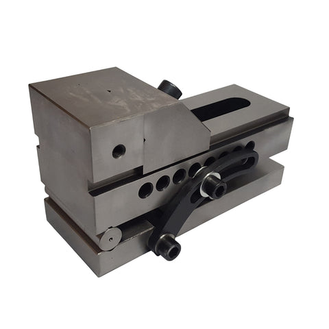 Back view of a 88mm precision sine vise.