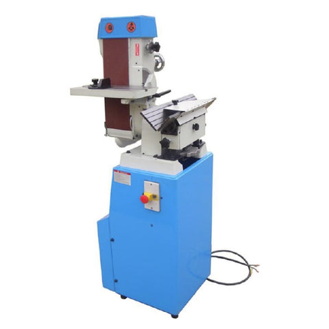 Front view of BSK belt sander and chamfering machine.