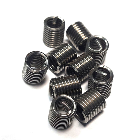 Overhead view of ten 7161415D imperial thread inserts.
