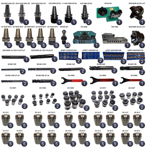 BT40 284 Piece Tooling Package