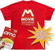 Load image into Gallery viewer, VIP Club Movie Gift Card Red