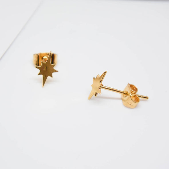 By Sidonie Etoile du Nord 24Kgp とっても小さな北星 ピアス Gold