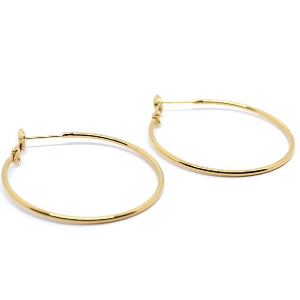 【NEW】By Sidonie Paula 24Kgp  フープ ピアス Gold