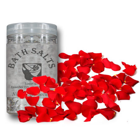Nimbin apothecary sells Heavenly rose Bath Salts online to relax sore muscles