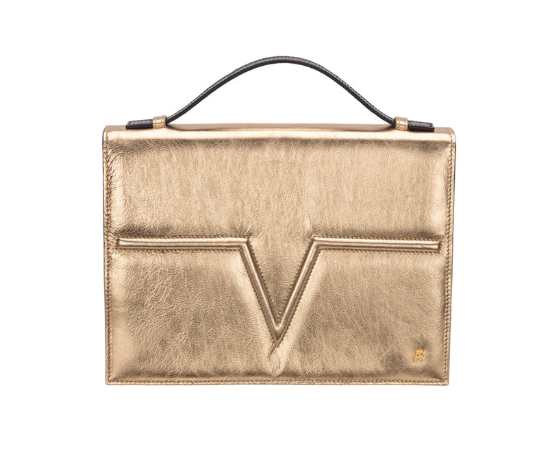 Metallic Gold Metise Satchel