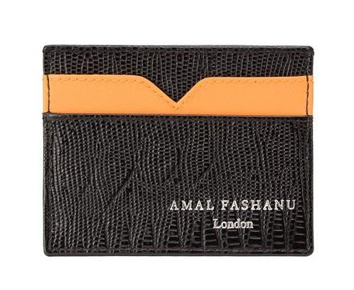 Tangerine Metise Card Holder