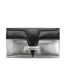 Silver Metise Clutch