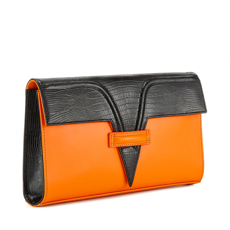 Tangerine Metise Clutch