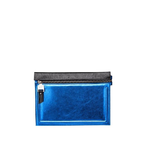 Metallic Blue Everyday Wallet