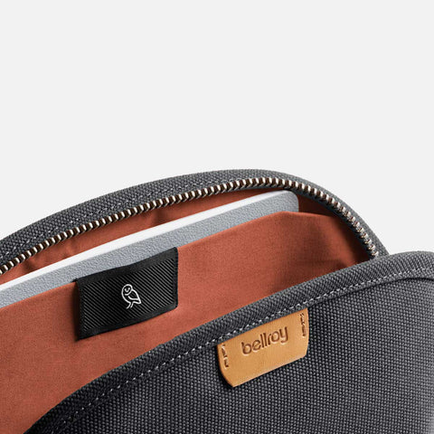 Bellroy Classic Pouch Charcoal Front