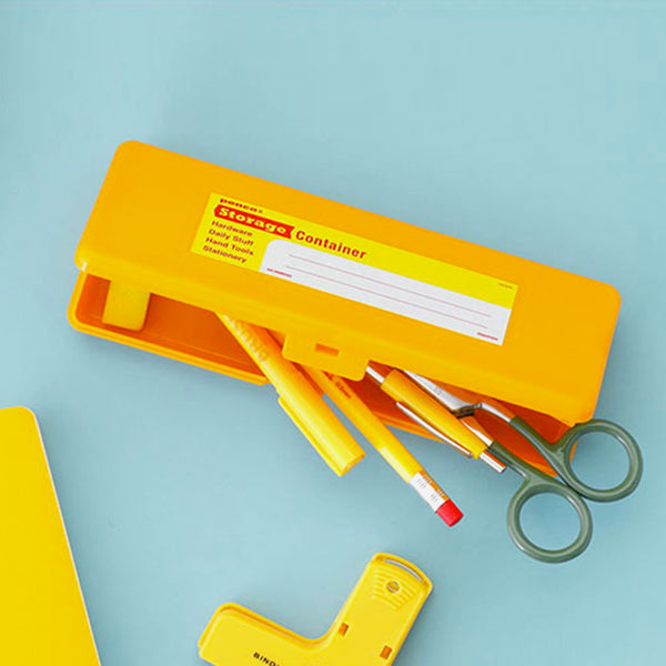 Storage Container Pen Orange Open
