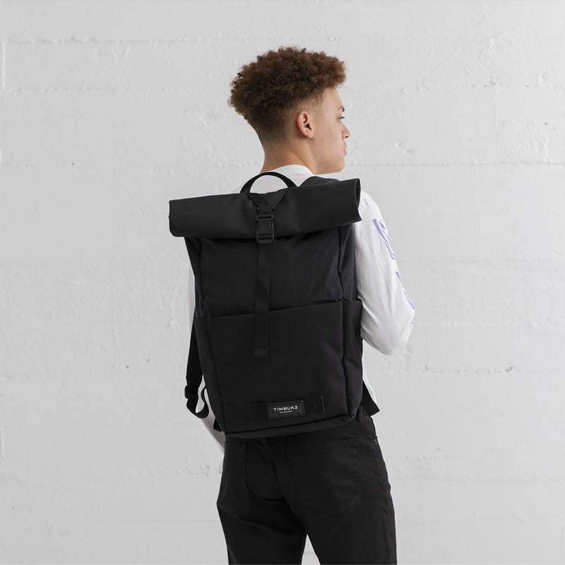 Timbuk2 Hero Laptop Backpack Jet Black Male Model