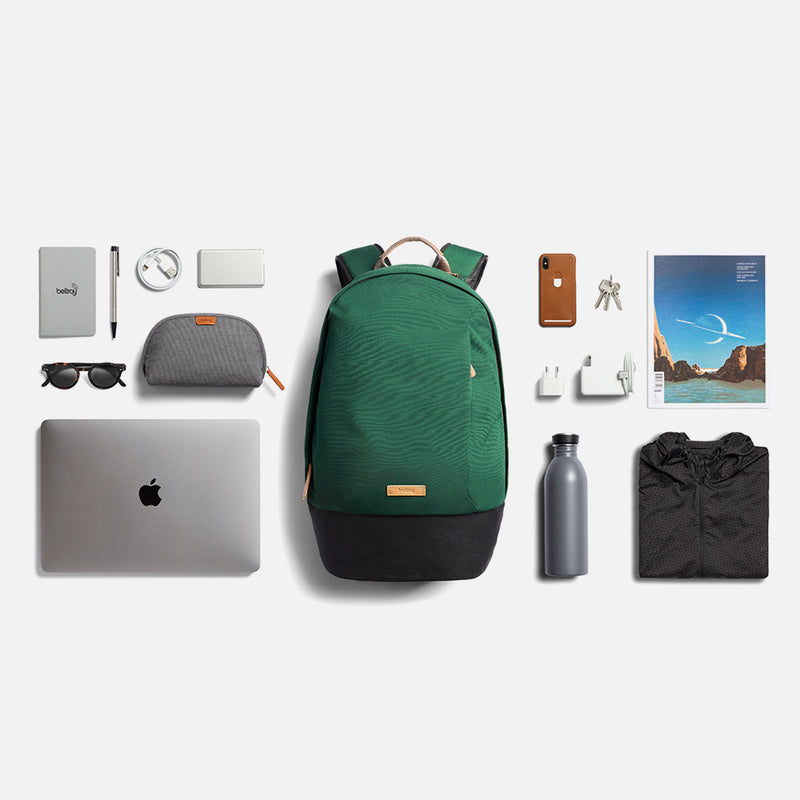 Bellroy Classic Backpack Forest flatlay