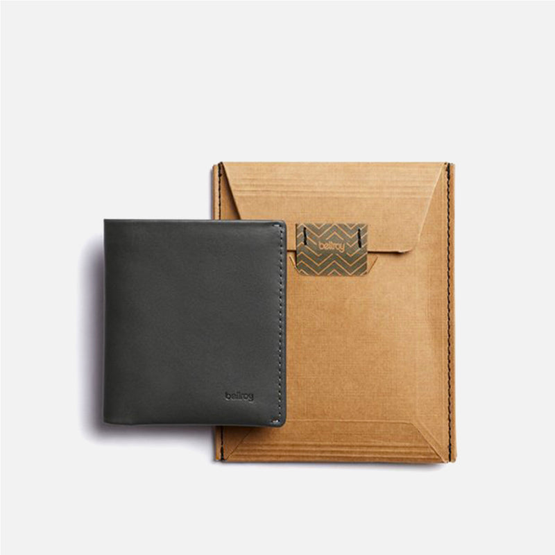 Bellroy Note Sleeve Charcoal Artic Blue packaging