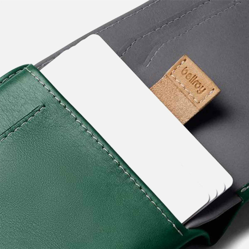 Bellroy Note Sleeve Racing Green pull cards