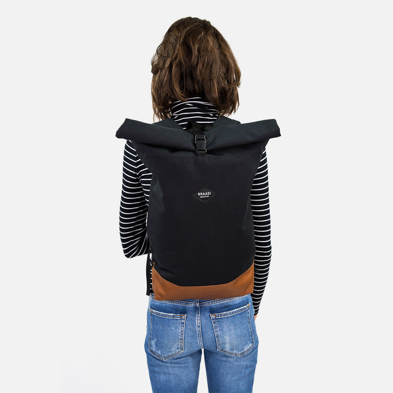 Braasi industry Nico backpack on the back