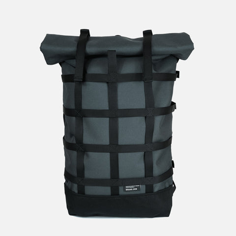 Braasi Industry Webbing grey backpack front view