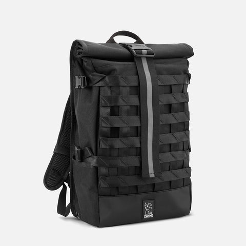 Chrome Industries Barrage Cargo Backpack All Black diagonal view