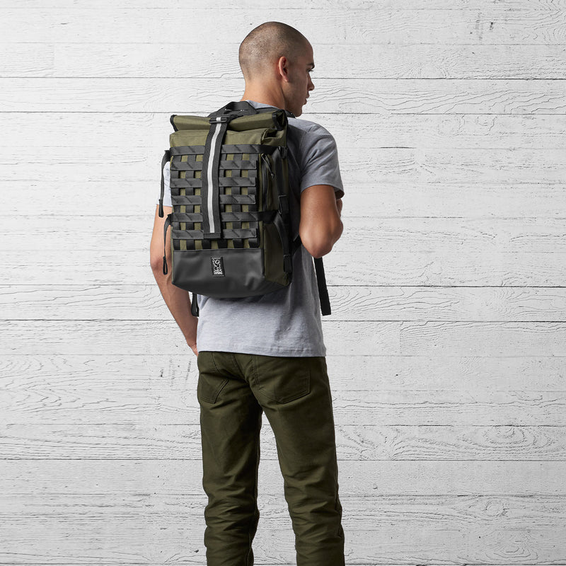 Chrome Industries Barrage Cargo on a man