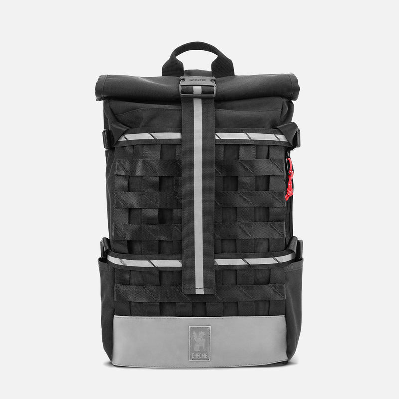 Chrome Industries Barrage Cargo Night front view reflect