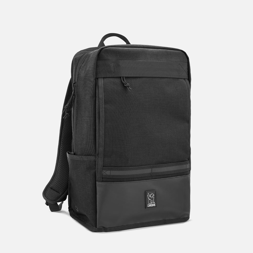 Chrome Industries Hondo Backpack All Black diagonal view
