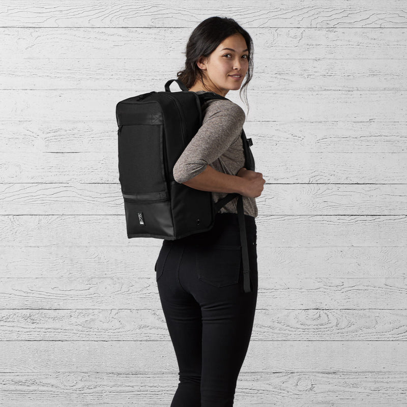 Chrome Industries Hondo Backpack All Black on woman