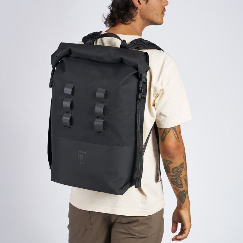Chrome Industries Urban Ex 2.0 Rolltop 30L on man's back