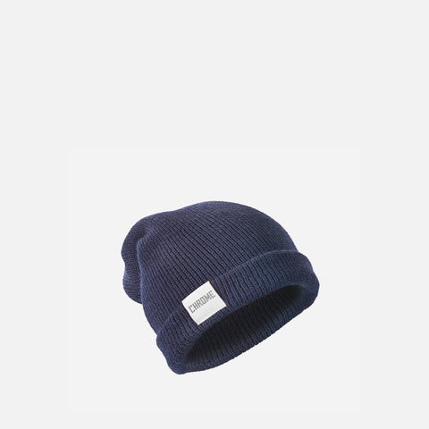 Chrome Industries Wool Cuff Beanie Navy front view