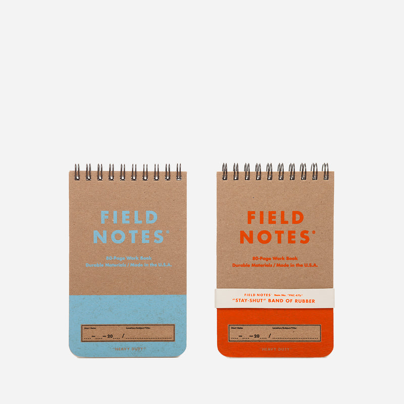 Field Notes Heavy Duty blue and orange front view