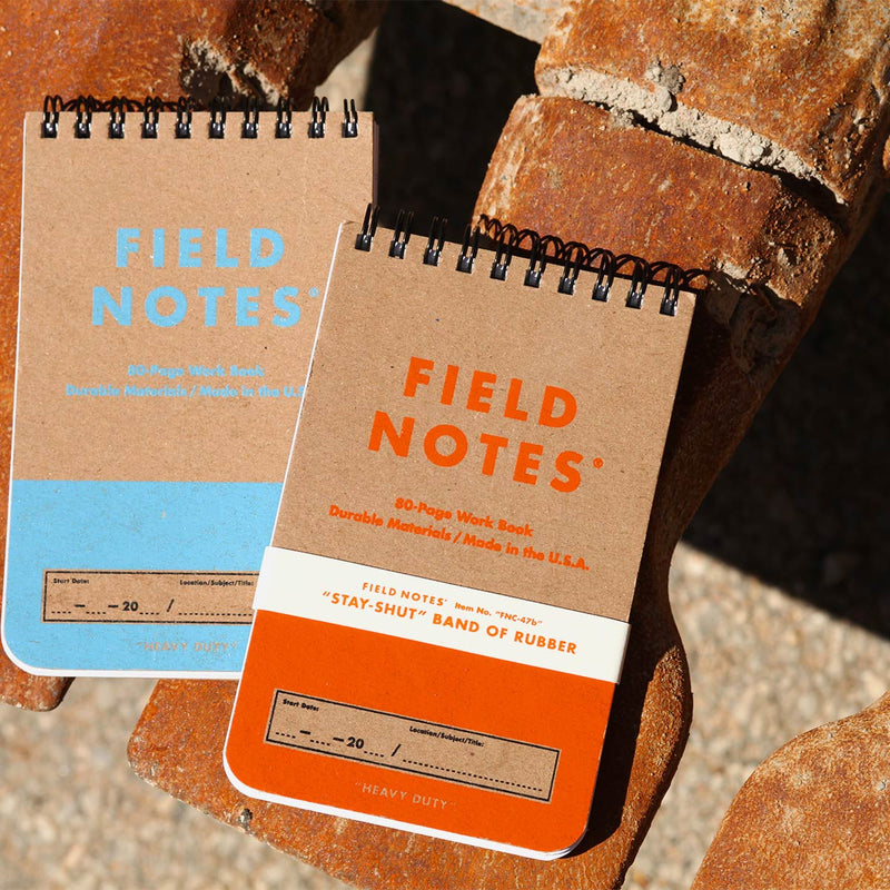 Field Notes Heavy Duty on metal