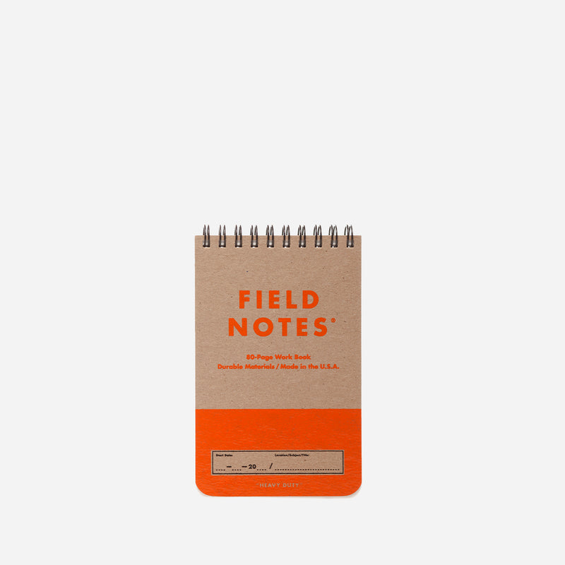 Field Notes Heavy Duty orange front view